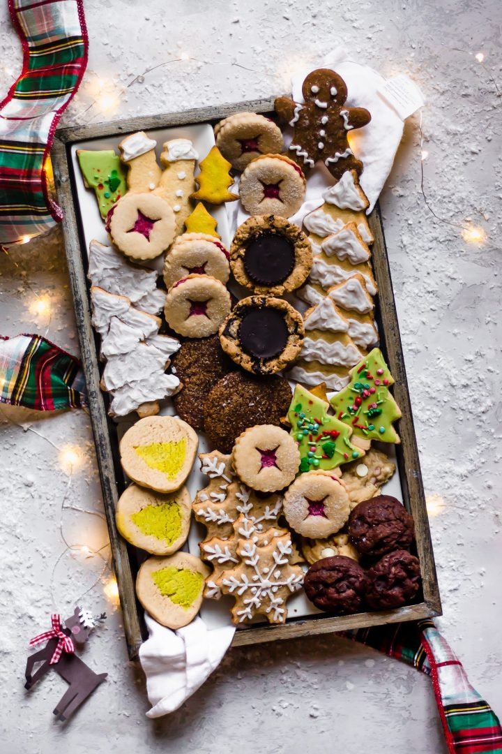 box of healthy christmas cookies