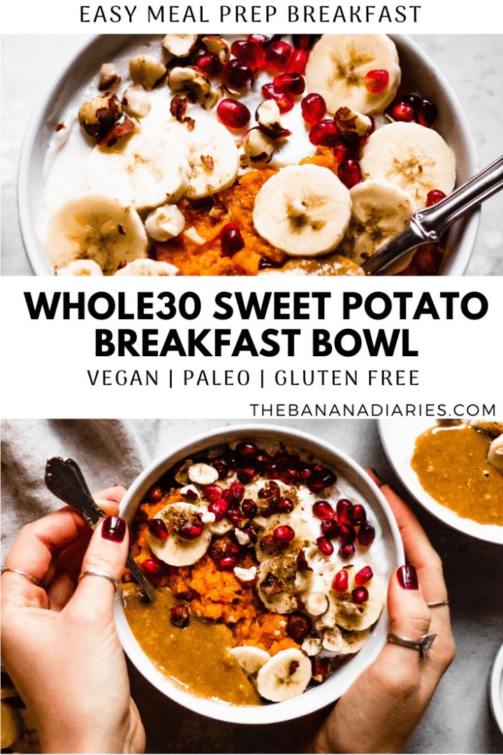 pinterest image for sweet potato bowl