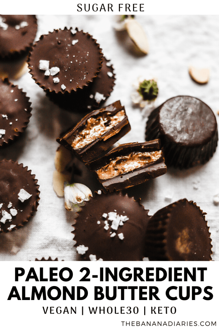 pinterest image for almond butter cups