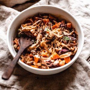 bowl of Paleo lo mein