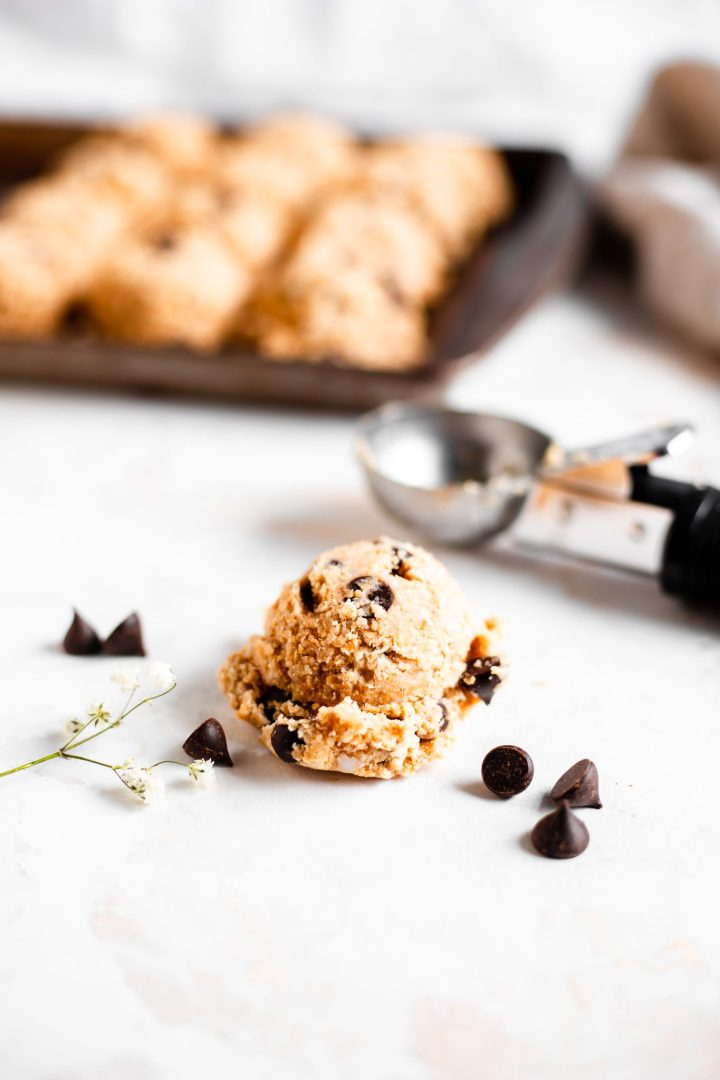 ice cream scoop with cookie dough