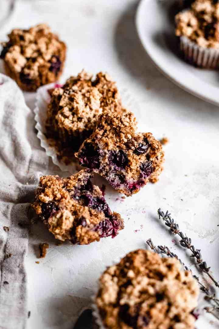 vegan blueberry muffin sprite open