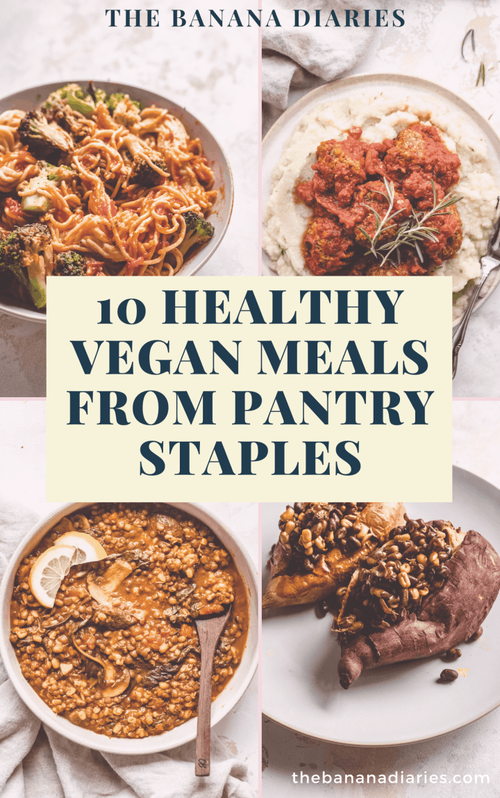 vegan pantry meals