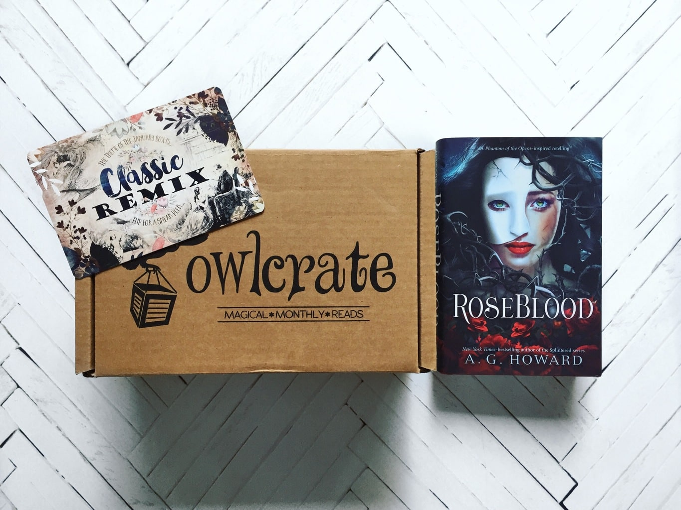 OwlCrate Unboxing + (a DNF) RoseBlood Review