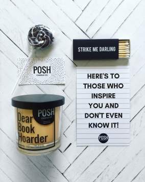 posh candle co bookish