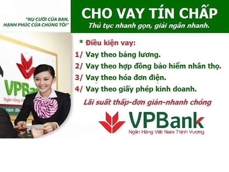 Các ngân hàng hỗ trợ vay tín chấp trực tuyến