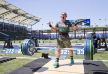 George Sterner during the Squat Clean event at the 2016 Reebok CrossFit Games
