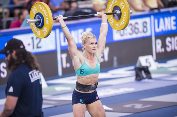 62ac6cb40a13 Katrin Davidsdottir during Double DT at the 2016 Reebok CrossFit Games