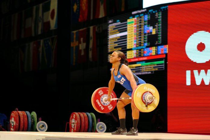 Jenny Arthur at the 2015 IWF World Championships