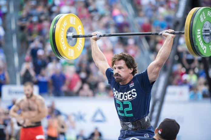 Josh Bridges competes at the 2016 CrossFit Games