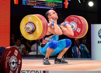Nijat Rahimov (KAZ) during 2015 IWF World Championships
