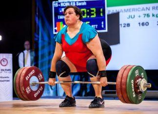 Sarah Robles during 2015 IWF World Championships