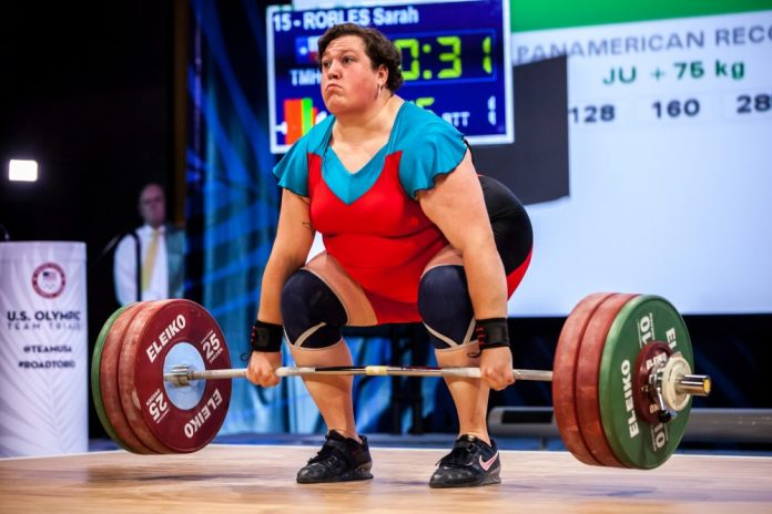 Sarah Robles during 2015 IWF World Championships