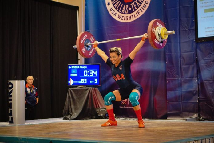 Rizelyx Rivera at 2015 USAW National Championships