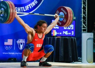 Harrison Maurus breaking Youth American Record - Snatch