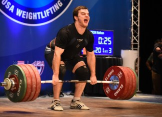 Nathan Damron at the 2016 USAW American Open