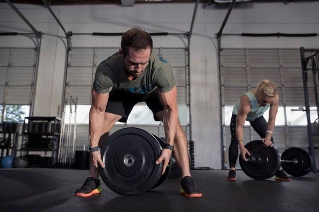 Rich Froning and Katrin Davidsdottir wearing Reebok CrossFit Nano 7