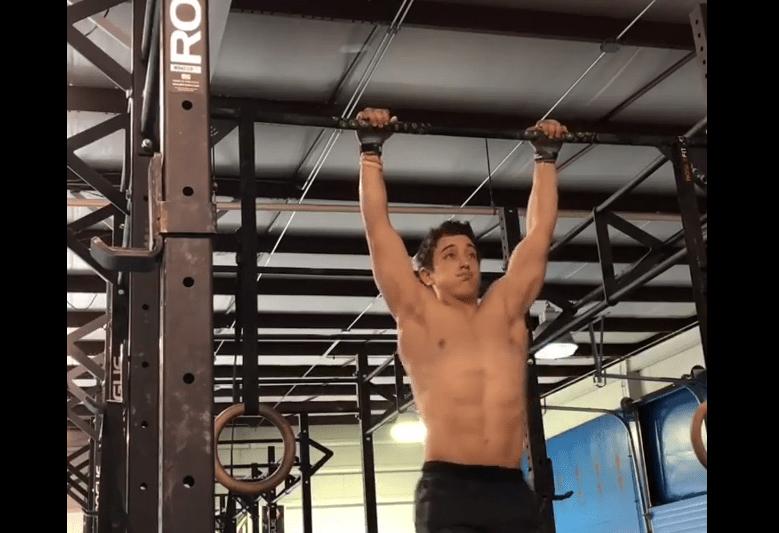Scott Cottrill doing bar muscle-ups