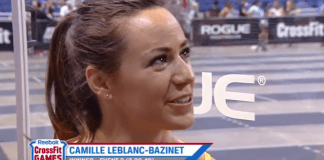 Camille Leblanc-Bazinet after winning Event 2 of South Regional