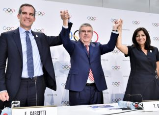IOC Session Press Conference with IOC President, Thomas Bach, 11th July 2017, Lausanne. Copyright: IOC/Christophe Moratal