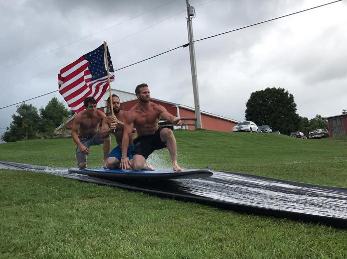 Rich Froning and Darren Hunsucker celebrating July 4th. @richfroning/Instagram