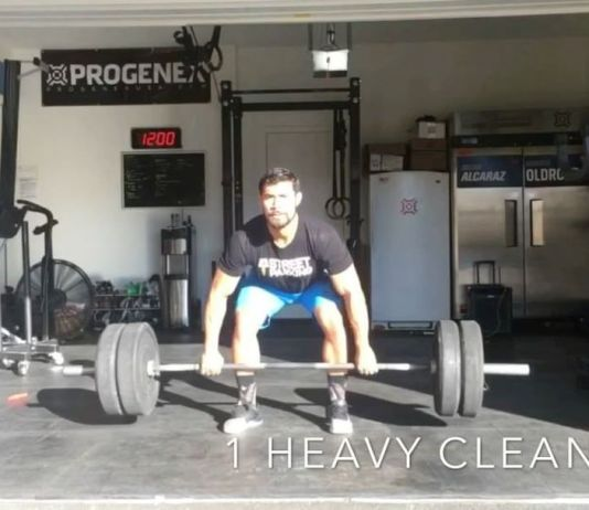 """Julian Alcaraz during """"Knox"""", a WOD named after his newborn son."""