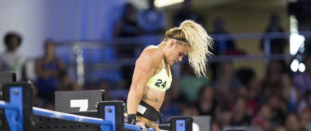 df0820fe39 Sara Sigmundsdottir during Muscle-up Clean Ladder at the 2017 CrossFit Games.  Photo courtesy
