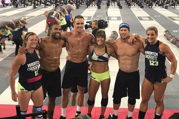 Wasatch CrossFit at the 2017 CrossFit Games. @hungryfitness/Instagram