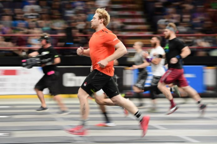Patrick Vellner took third in his rookie year at the 2016 Games. On Day 2 of the East Regional, Vellner set the world record on Event 4. Photo courtesy of CrossFit Inc.