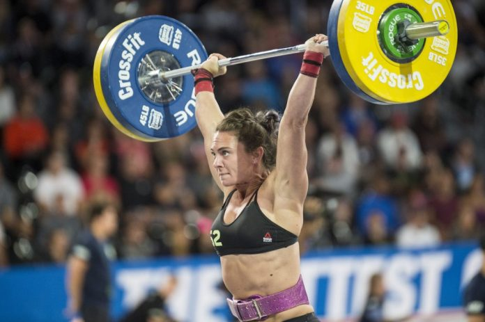 Team clean and jerk event at the 2017 CrossFit Games. Photo courtesy of CrossFit Inc.