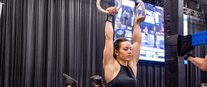 Camille Leblanc-Bazinet at the 2018 CrossFit South Regional. Photo courtesy of CrossFit Inc.