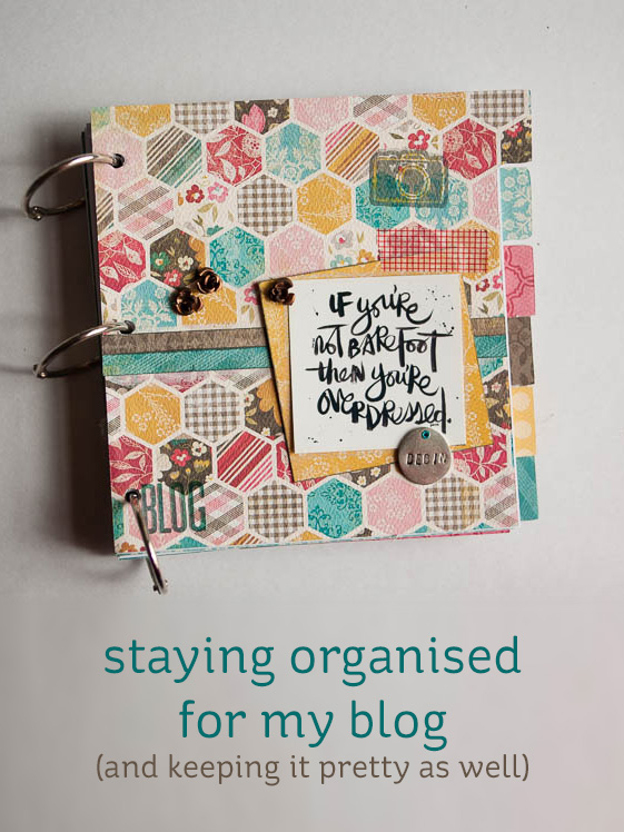 blog planner & editorial calender mini-book