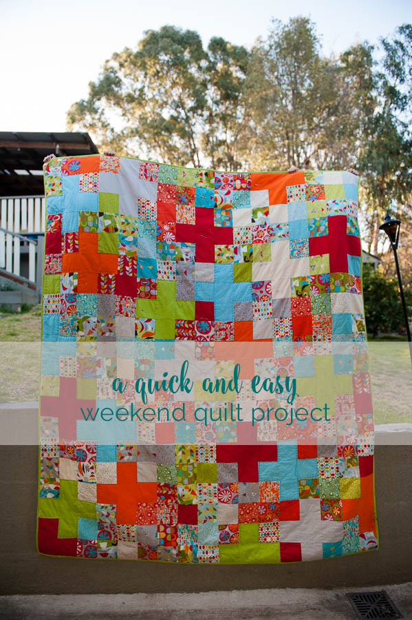 a quick and simple quilt for our camper trailer