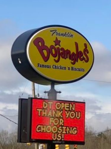 Bojangle's sign