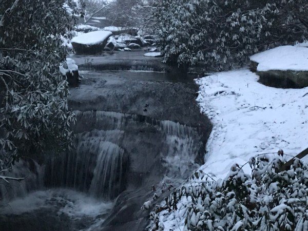 a frozen waterfall