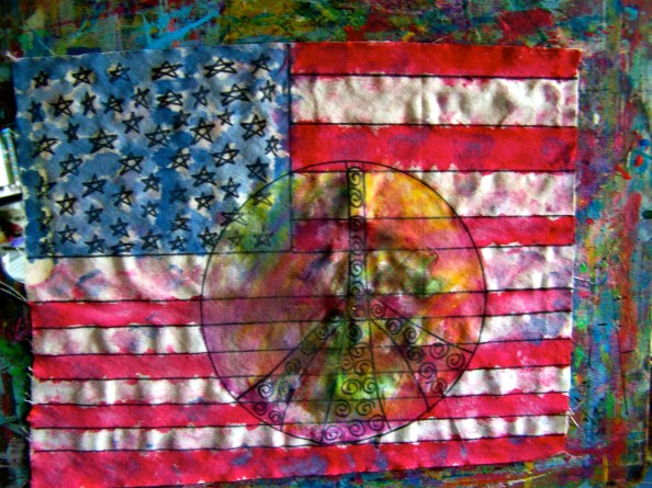 Fourth of July Peace Flag