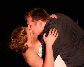 First dance kiss. Beautiful, surprise photograph.