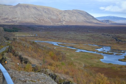 The tearing apart of Iceland at the Eurasian and North American tectonic plates