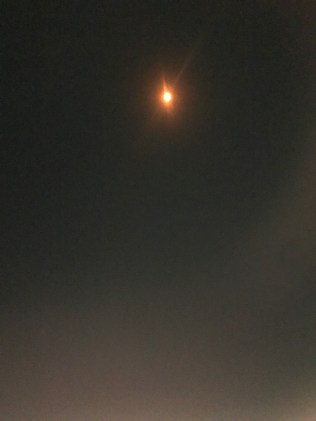 Solar Eclipse from the runway in Seatle