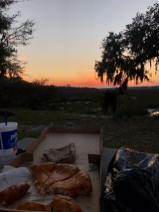 My husband dines alfresco with me and chases the sunsets. Literally the luckiest.