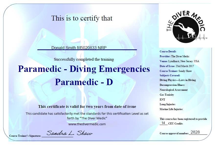 BTS & the Diver Medic Course – The Barefoot Paramedic
