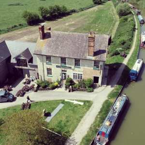 Aerial view of The Barge Inn