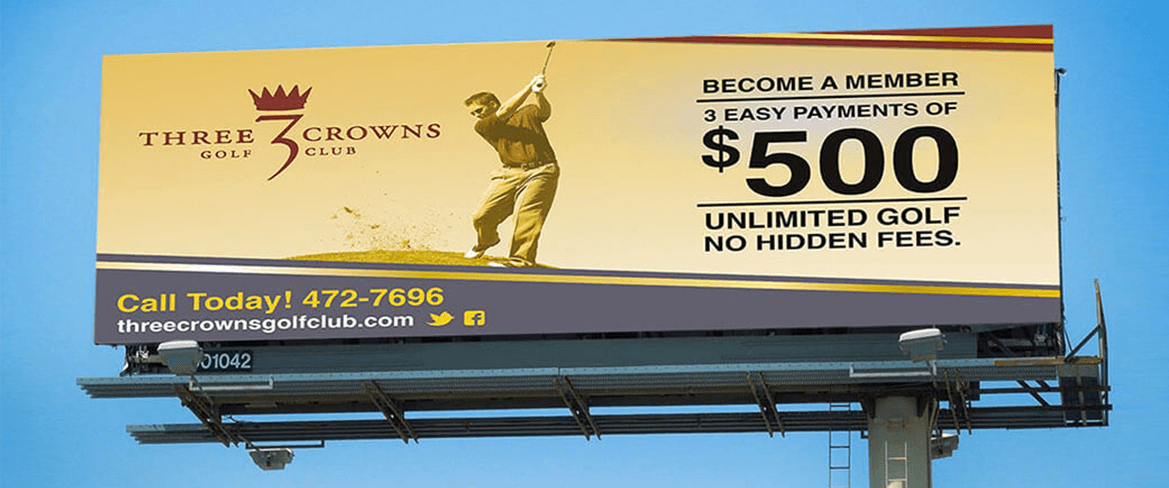 Three Crowns Golf Club Billboard