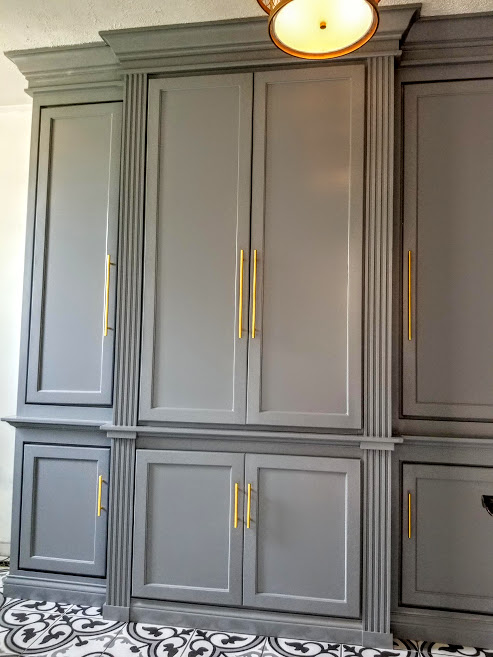 Custom Mudroom Locker Cabinet