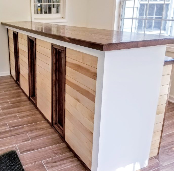 Contemporary bar with classic inclusions