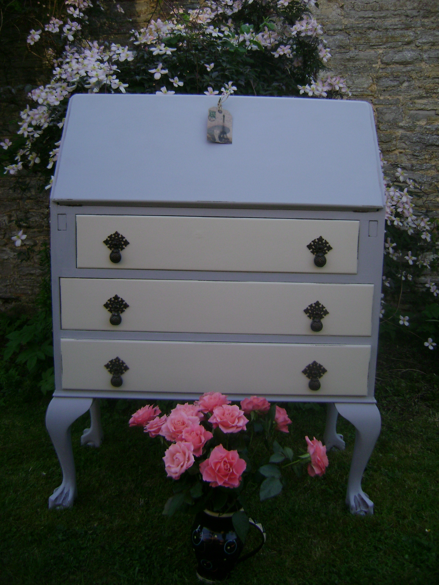 Painted Writing Bureau The Barristers Horse