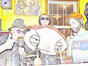 Nick, Bootsy & Jon Ammerman with a friend in the K-KID studio