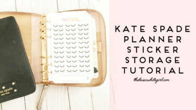 Kate Spade Planner Sticker Storage Tutorial