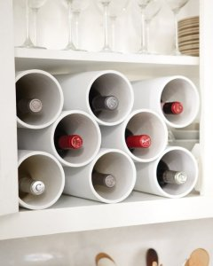 hardware pipes as wine racks