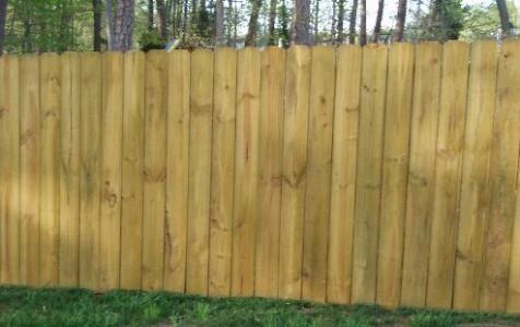 Solid Dog Ear Fence